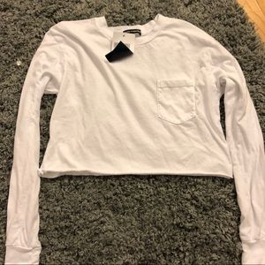 White pocket long sleeve
